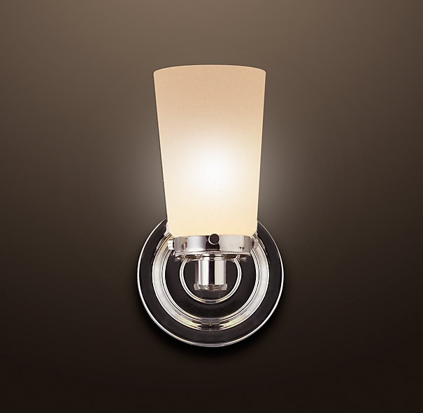 restoration hardware sconce bathroom pinterest