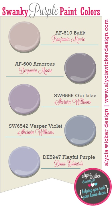 Top 5 Swanky Purple Paint Colors Paint Colors 2 Pinterest