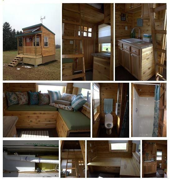 off grid micro cabin tiny house pinterest. Black Bedroom Furniture Sets. Home Design Ideas