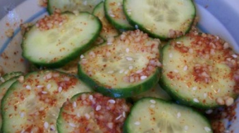 Spicy Korean cucumber salad | Vegetarian Recipes | Pinterest