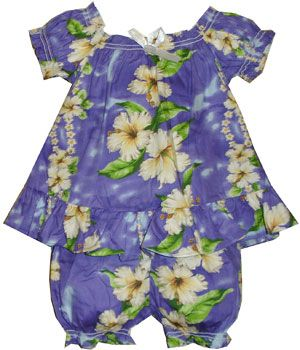 Hibiscus Leis - Child Outfit Set : Shaka Time Hawaii Clothing Store