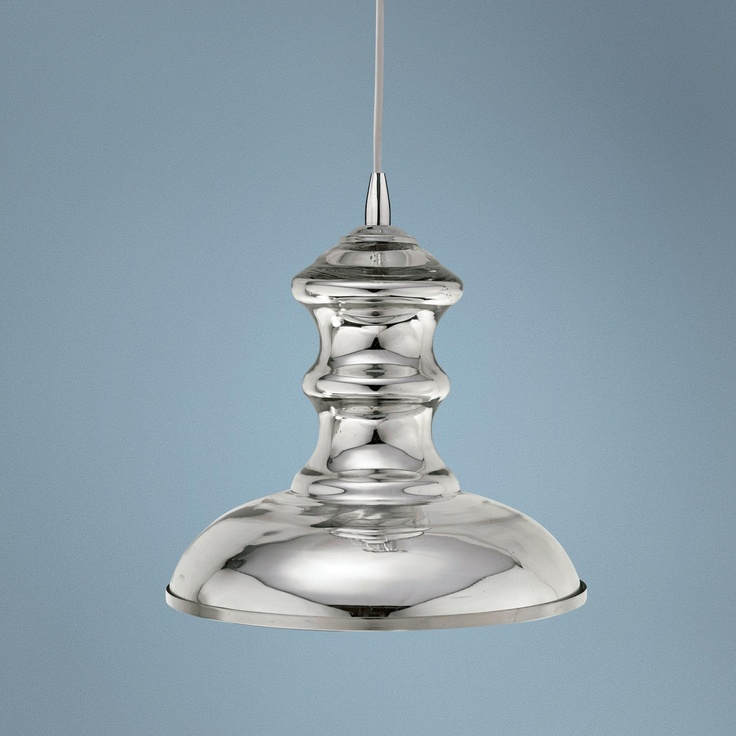 Jamie young st croix mercury glass pendant chandelier for Jamie young lighting pendant
