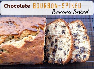 Chocolate Bourbon-Spiked Banana Bread