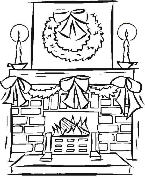 chimney coloring pages christmas-#5