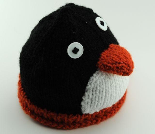 Penguin hat idea Knit Pinterest