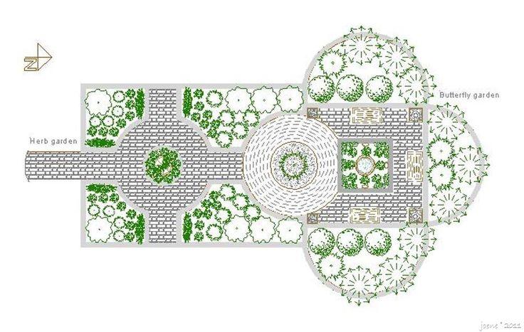 Herb and Butterfly garden design concept Wildlife