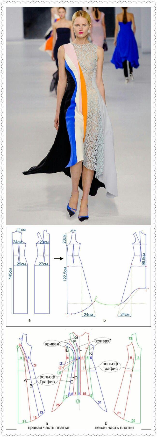 Пошив платья с пошаговым