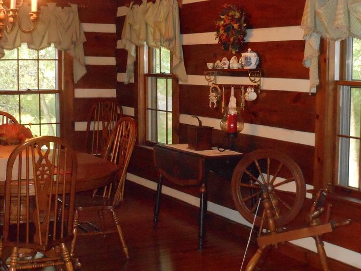 Log Cabin Dining Room Home Decor Lovely Log Homes Pinterest