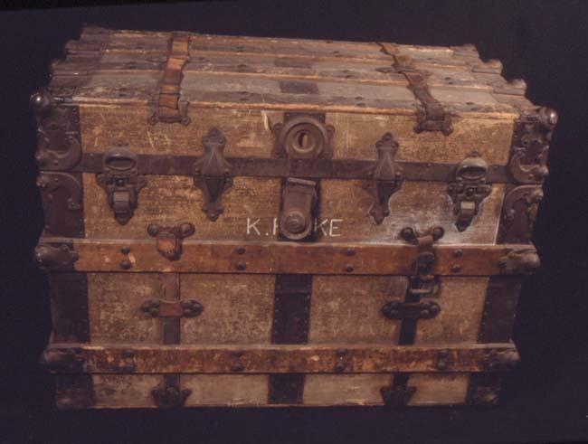 Antique trunk.  Trunks  Pinterest