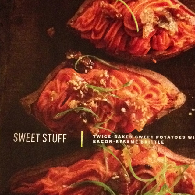 Twice-Baked Sweet Potatoes With Bacon-Sesame Brittle Recipes ...