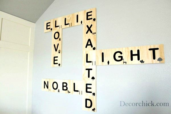 Scrabble wall art by Decor Chick