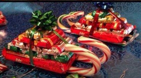 Candy sled great gift or holiday party favors for kids or - Christmas favors for adults ...