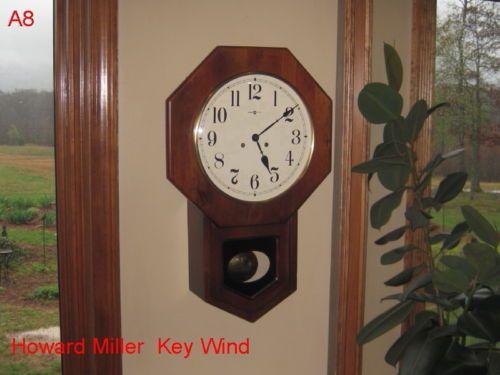 vintage howard miller school house wall clock time piece