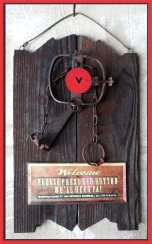 Redneck doorbell trap funny rustic western decor - Trap decor ...