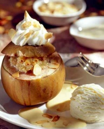 served for winter holidays, and the delightful flavor of baked apples ...