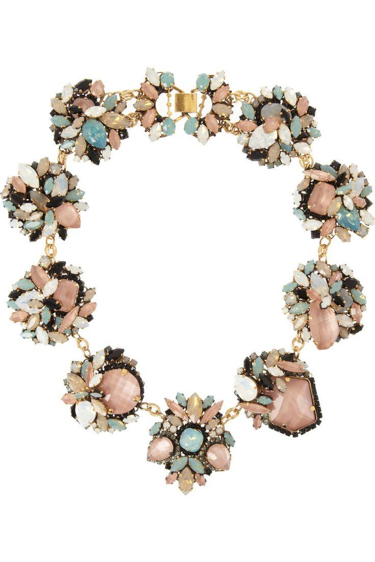 Erickson Beamon|Girls On Film gold-plated Swarovski crystal necklace|NET-A-PORTER.COM