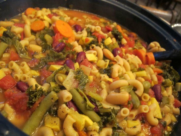 Crock Pot Vegetarian Minestrone | soup | Pinterest