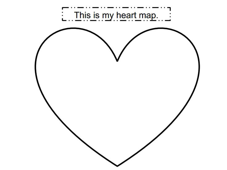 heart map template | Projects | Pinterest