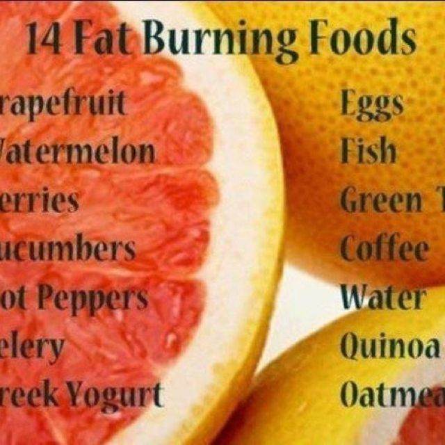 Natural food fat burners
