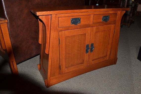 Arts and crafts mission oak console table entry way for Arts and crafts sofa table