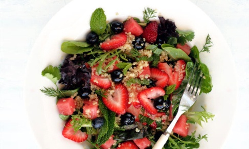 ... recipe for Quinoa Salad with Blueberries, Strawberries and Watermelon