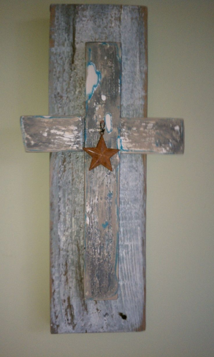 Barn wood crafts star cross on barn wood craft to do 39 s for Old barn wood craft projects