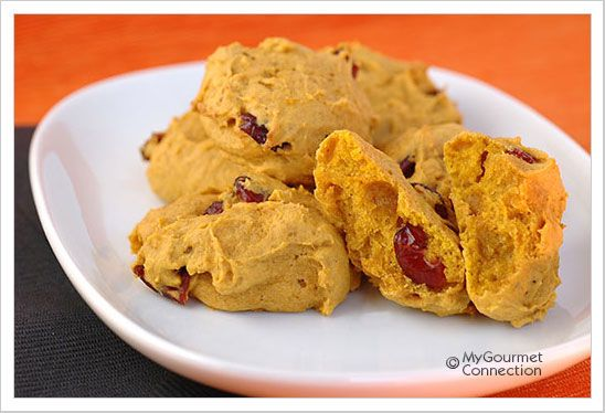 Spiced Pumpkin, Orange And Cranberry Cookies from MyGourmetConnection ...