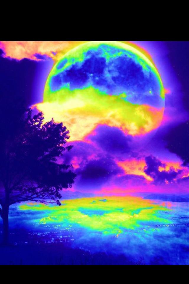 Rainbow moon | Bedtime clipart | Pinterest
