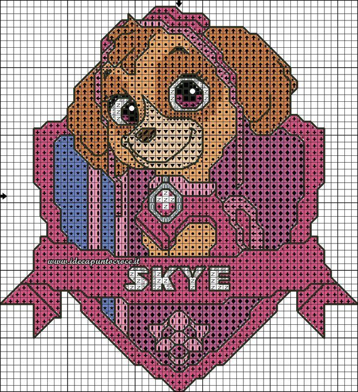 Схемы вышивки крестом щенячий патруль 24