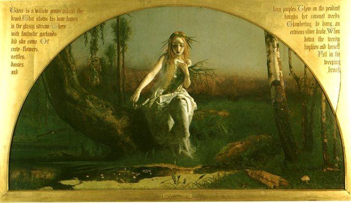 arthur hughesOphelia Painting Arthur Hughes