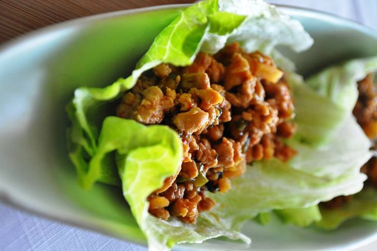 asian chicken lettuce wraps | Recipes I like | Pinterest