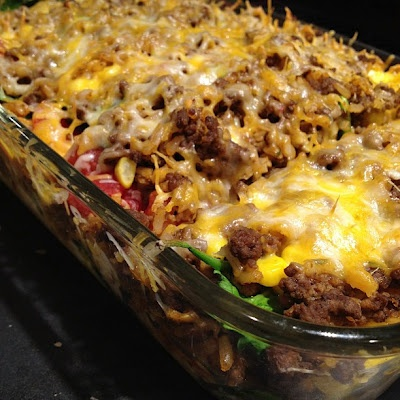 Mexican Casserole - looks quick, easy, and yummy!