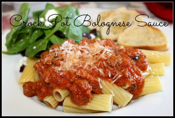 Crock Pot Bolognase Sauce | Slow cooker cooking | Pinterest