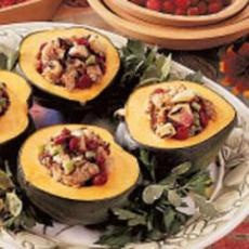 Venison and Wild Rice Stuffed Acorn Squash | Yummly--I have been ...