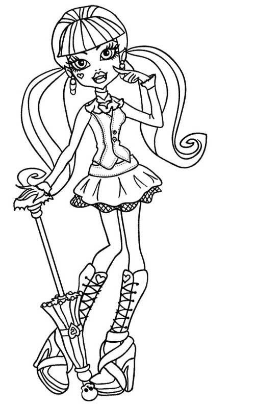 draculaura coloring pages - draculaura free coloring pages