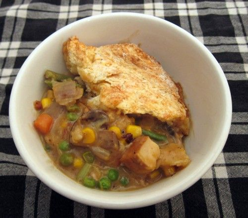 tofu and vegetable pot pie | Vegetarian | Pinterest