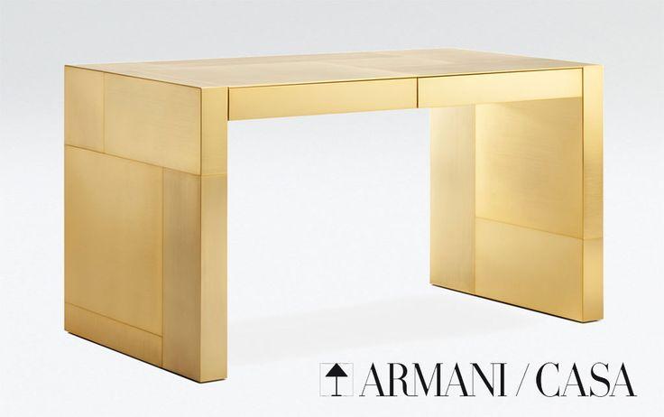 Adelchi - Gold-plated Writing Desk by Armani Casa
