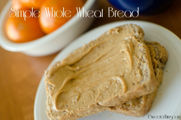 Simple Whole Wheat Bread   Yum   Pinterest