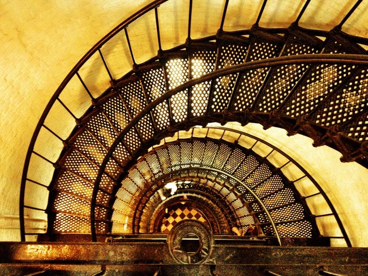 St augustine lighthouse interior stairs california for Light house interior