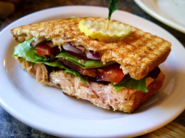 Grilled Salmon and Brie Panini~ wow | The Sandwich | Pinterest
