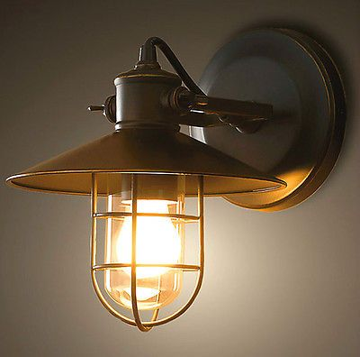 handcrafted vintage industrial restaurant sconce wall lights pendant