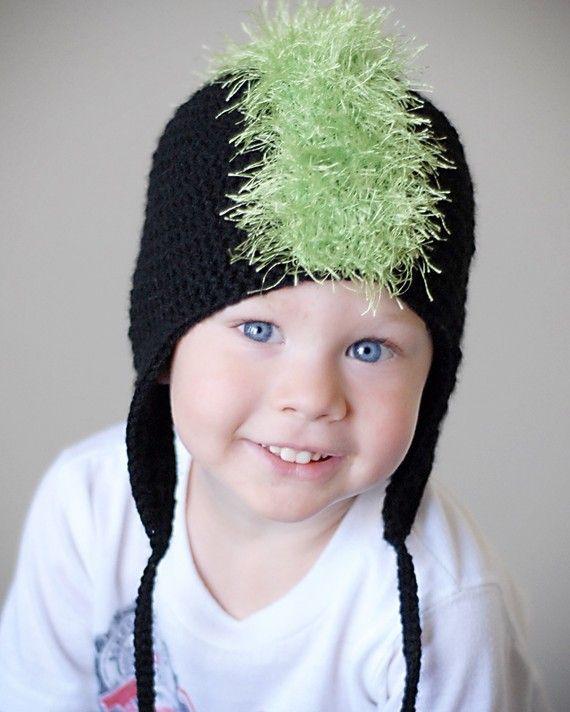 Crochet Mohawk : Crochet mohawk hat