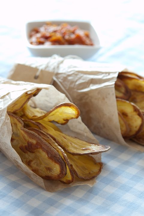 Homemade potato chips | RECIPES | Savory Side Dishes | Pinterest