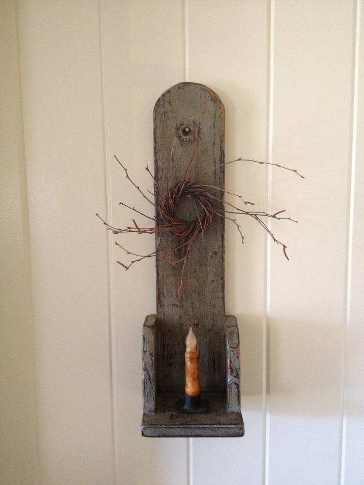 Primitive Wall Sconces Candles : Primitive candle sconce. Prims Pinterest