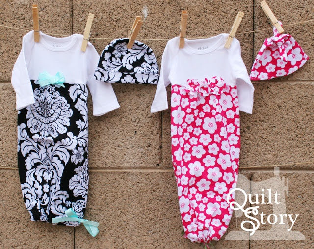 Baby Gowns From Onesies