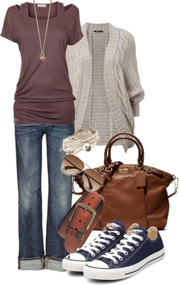 jeans + tee + chucks - Want to save 50% - 90% on women's fashion? Visit http://www.ilovesavingcash.com