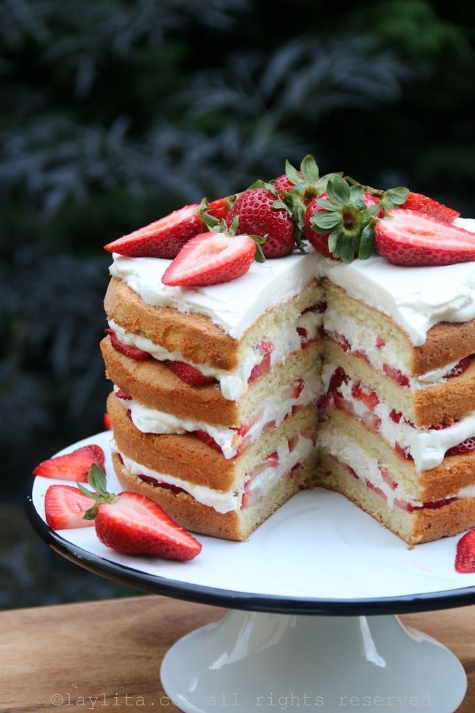 Images Of Strawberry Layer Cake : Strawberry layer cake Recipe