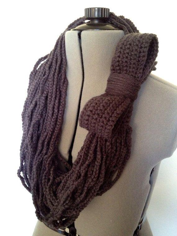 Crochet Chain : Crochet Chain Infinity Scarf