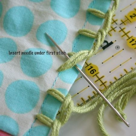 Crocheting Into Fabric : Firm Foundation - the first step to crocheting into fabric