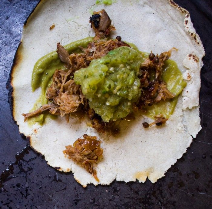 ... tacos: pork carnitas tacos + salsa verde & salsa doña - eathalifax
